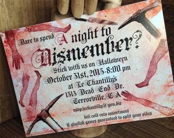 Halloween Invitation DIGITAL Blood Macabre PRINTABLE DOWNLOAD
