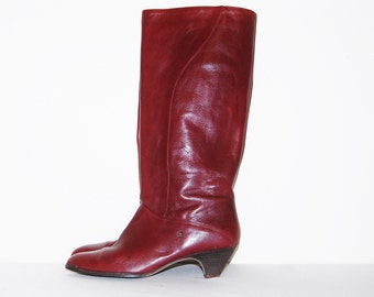 Vintage Boots Etienne Aigner Oxblood Leather
