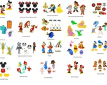 Disney Buttons Sets - Choice of Sets - Mickey Mouse, Minnie, Donald Duck, Goofy, Frozen, Nemo,