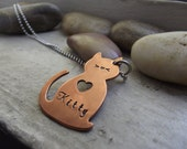 I Mew you kitty Necklace,  Ready to ship