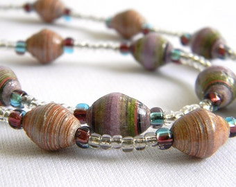 Paper Bead Jewelry - Necklace - #1201