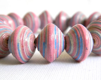 Paper Bead Jewelry - Chunky Bead Bracelet - 7.5 inches - #B300