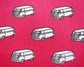 Japanese Fabric - Cotton Fabric - Minivans - Fat Quarter - Sevenberry LIMITED YARDAGE