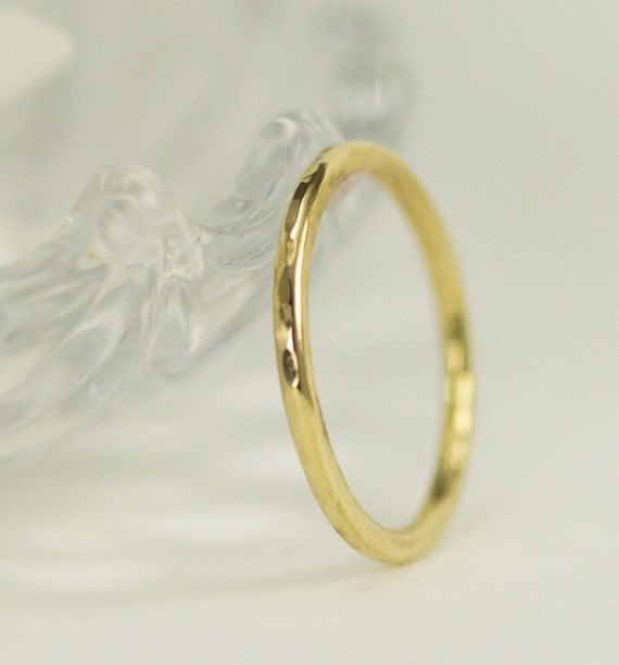 18k Gold Band - 18k Gold Wedding Band - Solid 18k Yellow Gold Ring 1.6mm