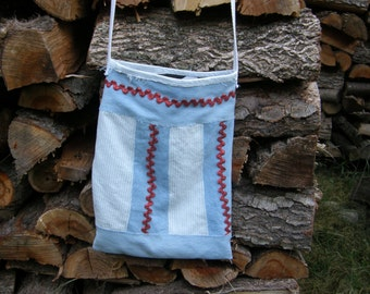 Re-purposed Jeans Cross Body Bag