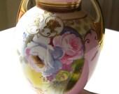 Gorgeous 1920s Heirloom quality Morimura Brothers Handpainted Vase