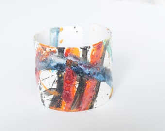 sold out   Bracelet Cuff Abstract  one of a kind Art Studio Canada   Size+