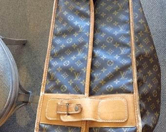 vintage LOUIS VUITTON suitcase traveling garment bag