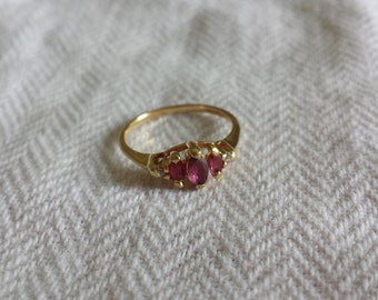 14k ruby ring size 6