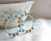 Autumn's Kiss Multi Color Circle Earrings Free Shipping