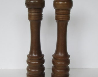 Extra Tall Wood Salt and Pepper Set