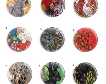 Needle Minder, Licensed Art, Lynnette Shelley, Cross Stitch Keeper, Fridge Magnet, Animal Pin Keeper - Set 1