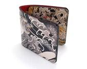 Leather Wallet /  Men's Leather Wallet  / Leather Card case  - Tiger Tattoo