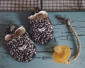 Soft Soled Baby Shoes - Black Pony