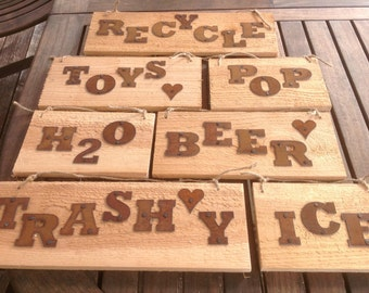 Metal Letter - Rustic - ORDER as many letters as you need - 2 inch - 5 inch