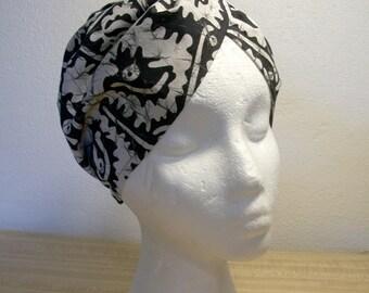 Choice of Turbans: 5 Prints Available African Block, Batik, Wax Print