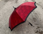 Custom order for Ashley Tams *Red Spiderweb Parasol* ONLY FOR ASHLEY