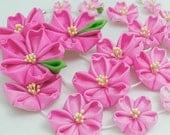 Pink Hanging Sakura Blossom Tsumami Kanzashi Silk Flowers Gradient Cherry Blossom