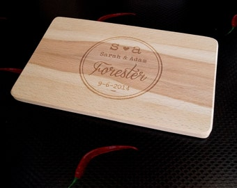 Personalized cutting board, laser engraved cutting board, breakfast cheese board, serving board, wedding, anniversary gift, Your Wood Choice