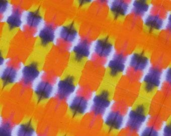 Dreamweaver Tie Dye Shibori Bandanna / Scarf / Tapestry (15 x 60 Inches) (One of a Kind)