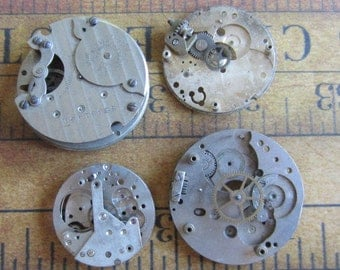 Vintage Antique Watch movements parts Steampunk - Scrapbooking g22