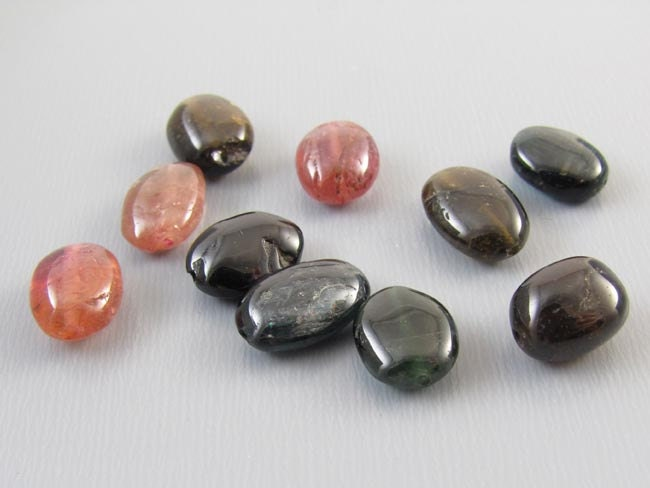 10 Genuine tourmaline tumbled pre drilled bead 20 carats 2 carat each perfect for bracelet or earrings jewelry supply making craft steampunk