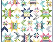 WINTER SALE - Quilt Kit - Superstar quilt pattern and Color Theory fabric - by Vanessa Christenson of V and Co. for Moda