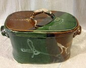 Pottery Casserole, Earthtone color