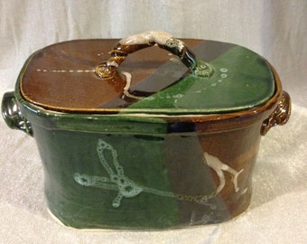 Pottery Casserole, Earthtone color