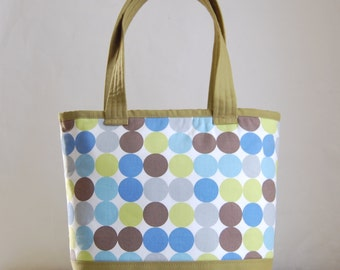 Multi Dots Fabric Tote Bag - READY TO SHIP