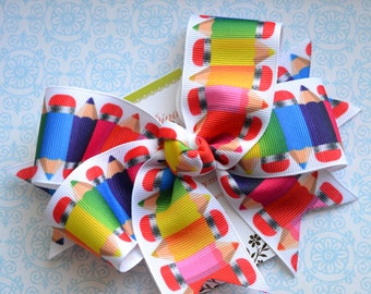 Rainbow Pencils XL Diva Bow