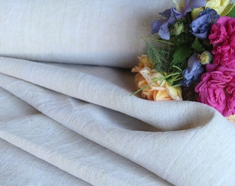 C 508 antique handloomed linen roll 14.86 yards french elegant 22.05 wide upholstery fabric 24.80wide