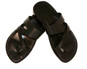 SALE - 30% OFF - Black Zing Leather Sandals for Men & Women -- EURO # 38