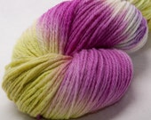 BFL Hand dyed  painted DK  yarn 100g skein knit crochet weave
