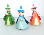 Disney Sleeping Beauty's Fairy Godmothers Porcelain Figurine Set
