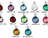 ADD ON -  6mm Round *OR*  6mm x 4mm Oval Channel Set Swarovski Birthstone Drops for Hand Stamped Necklaces