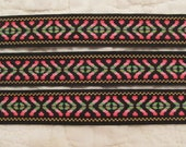 Vintage Fabric Trim Ribbon 1 inch x 4 yards Southwestern Style SALE