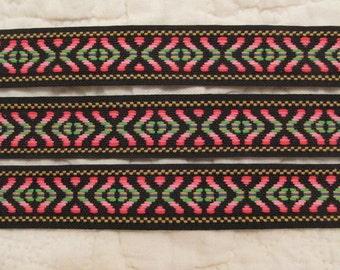 Vintage Fabric Trim Ribbon 1 inch x 4 yards Southwestern Style SALE