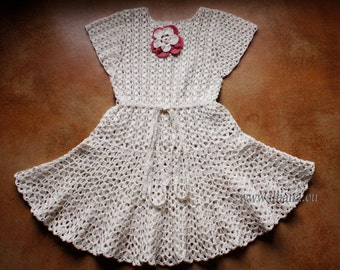 Crochet Dress Pattern No11 Sizes from New born to XXL