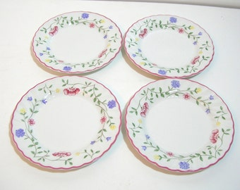 Johnson Bros. Summer Chintz Bread Plates, Set Of Four