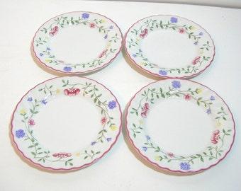 Johnson Bros. Summer Chintz Bread Plates, Set Of Four