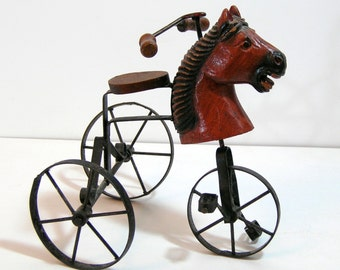 Horse Head Tricycle, Victorian Style, Doll Accessory