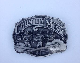 Belt Buckle Vintage 1980s Arroyo Grande Country Music