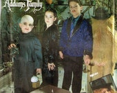 Addams Family Cousin it Gomez Morticia Uncle Fester Halloween Children Costume Sewing Pattern Simplicity 7991 Child Size 3 4 5 6 7 8 S M L