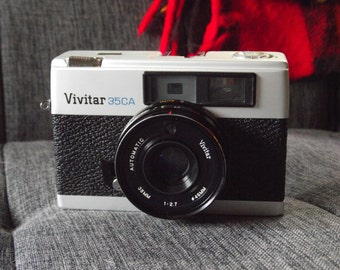 1970's Vivitar 35CA 35mm Film Rangefinder Camera with Lens Cover & NEW Battery!