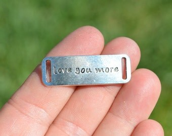5 Silver Love You More  Connector Charms SC3324
