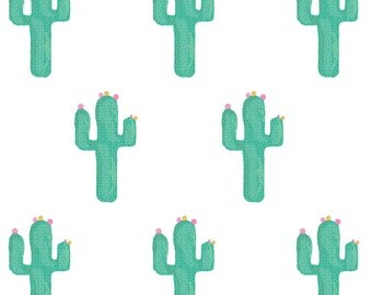 ON SALE Fabric Wall Decal - Cactus (reusable) No PVC