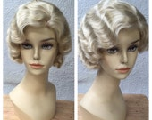 1920's Blonde Adult Flapper Bombshell Pinup Wig