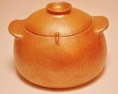 Casserole Bean Pot, 4.5 Qt., Handmade Micaceous Pottery Cookware, Ceramic Ovenware, Rice Pot, Flameware, Made in Santa Fe, Clay Soup Pot