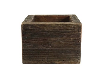 Reclaimed Wood Planter - Wooden Box - Succulent - Garden